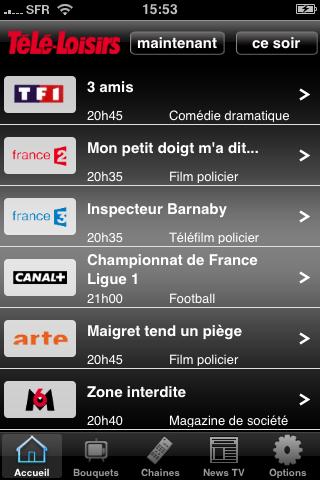 Application iPhone Téléloisir