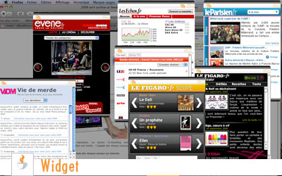Widget de bureau et e-marketing